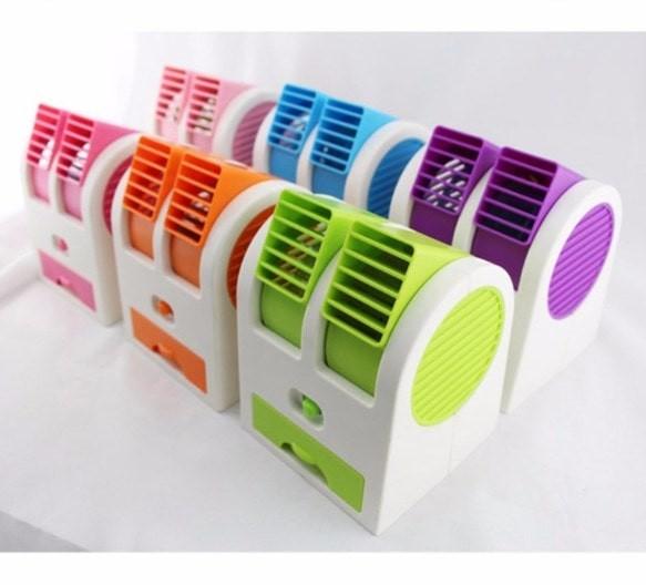 harga Kipas angin mini cool portable double fan fragrance ac duduk usb Tokopedia.com