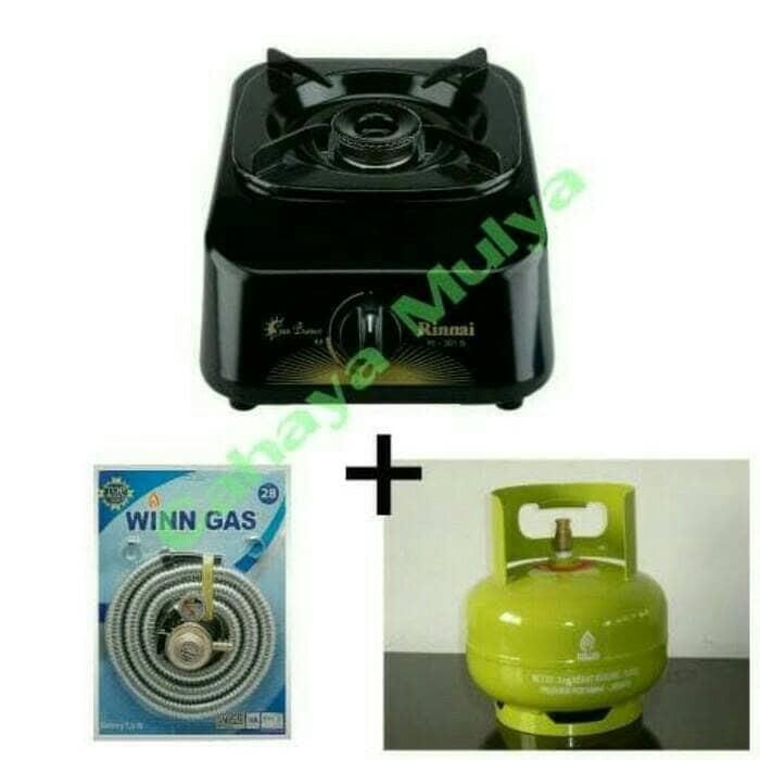 harga Kompor rinnai ri-301s + selang regulator winn gas + tabung elpiji 3 kg Tokopedia.com