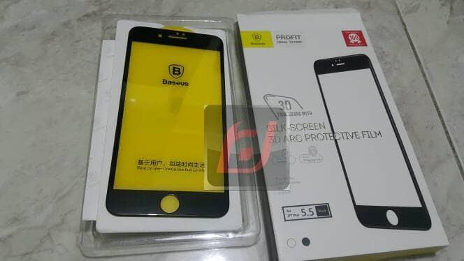 Foto Produk baseus tempered glass tg silk screen 3d arc full iphone 7 plus black dari waroenk aksesoris ori