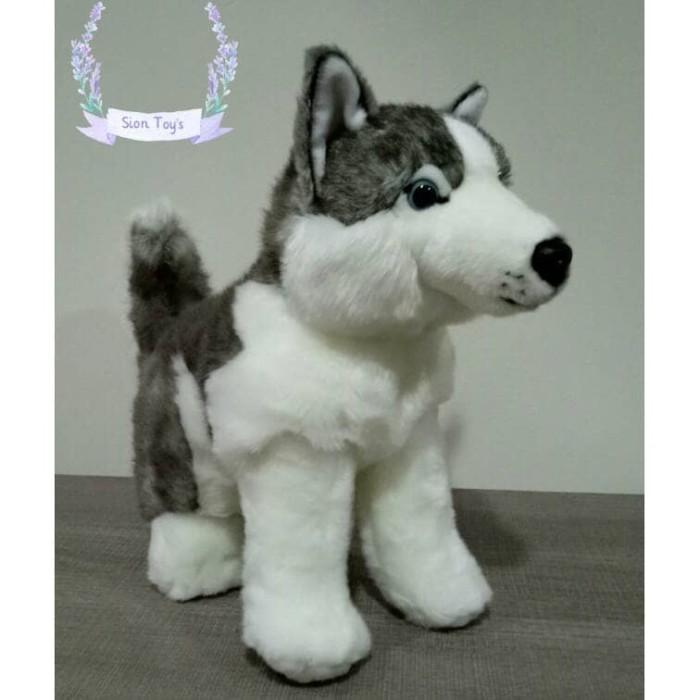 Boneka anjing siberian husky cantik harga Boneka anjing siberian husky  cantik Tokopedia.com 252237a88f