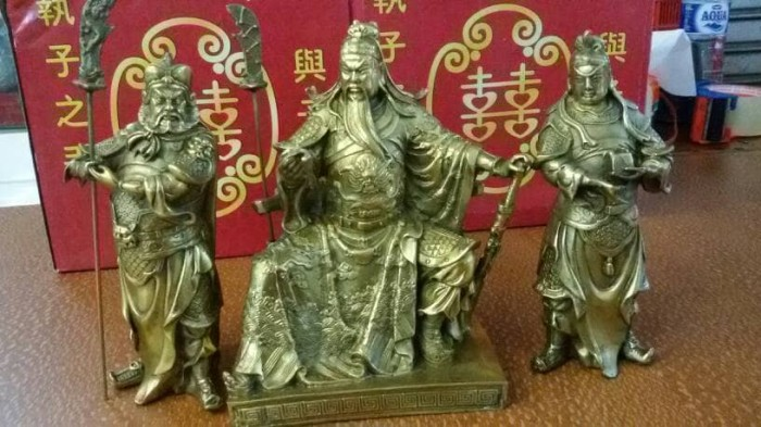 harga 1 set patung rupang kwan kong kuningan 8 inchi Tokopedia.com