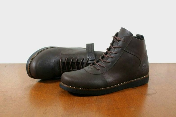 Jual Sepatu boots pria kulit Asli original Wolf brodo coklat sepatu ... 292e1d152b