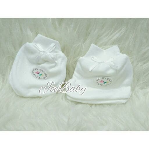Sarung Tangan Kaki Putih Polos Miyo