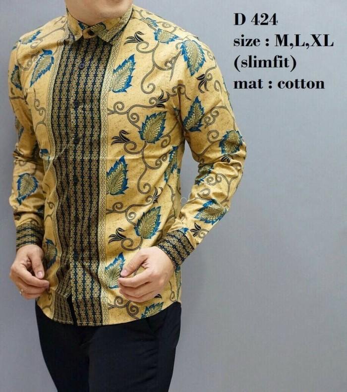 harga Fashion pria / kemeja batik / baju batik / slim fit / d424 Tokopedia.com