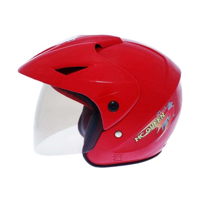 WTO Helmet Junior Neo Mc Queen Merah Helm Anak