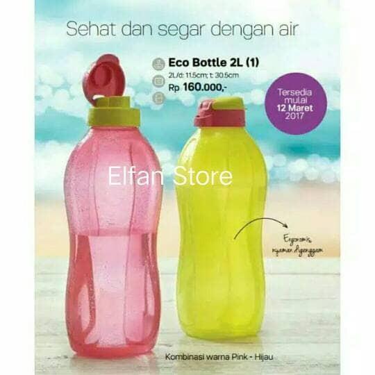 Tupperware Eco Bottle 2 Liter (2 pcs) Pink- Yellow