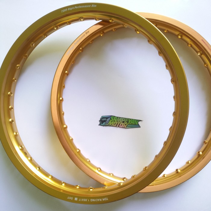 harga Velg set tdr racing w shape gold 17 x 160 dan 17 x 185 Tokopedia.com