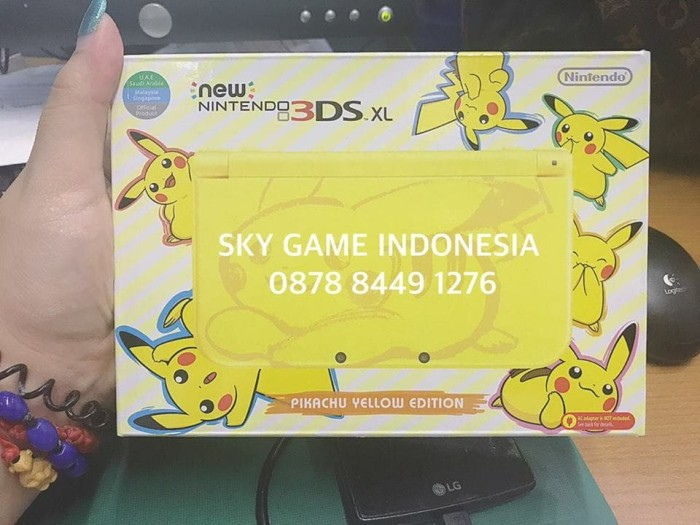 harga Nintendo 3ds in pikachu yellow edition (limited stock) Tokopedia.com