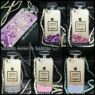 harga Iphone 6 plus coco chanel water glitter bottle parfume case Tokopedia.com