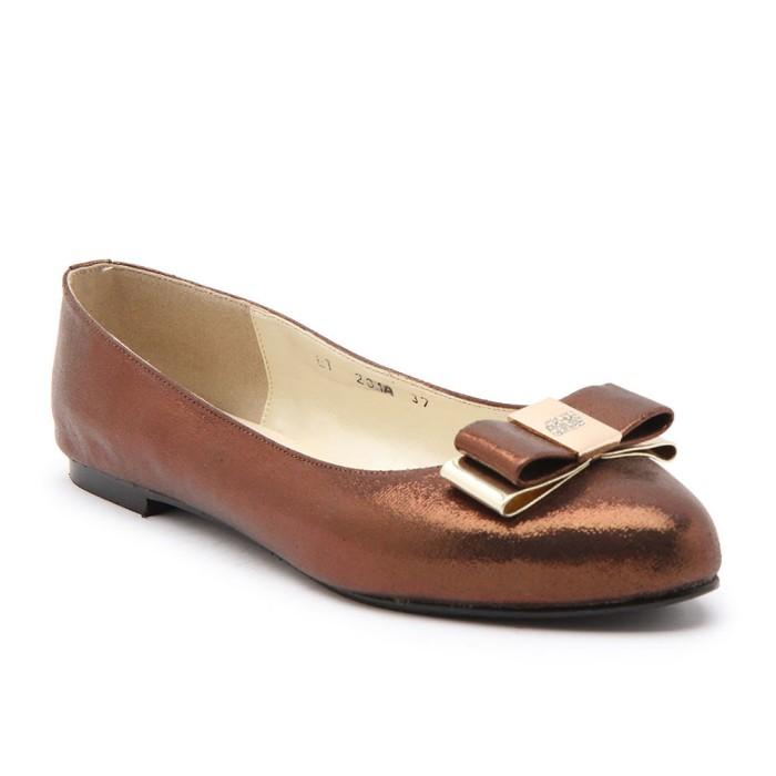 Flats shoes wanita gabino elinore bronze - cokelat tua 40 f3db899cbf