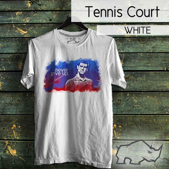harga Tshirt tennis novak djokovic never give up Tokopedia.com