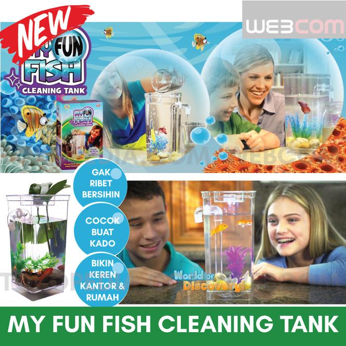 harga My fun fish cleaning tank as seen on tv akuarium / aquarium mini unik Tokopedia.com