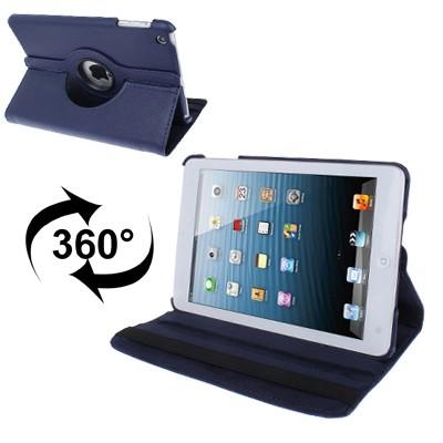 harga Ss615 - 360 degree rotate leather case ipad mini 1 - 2 - 3 blue Tokopedia.com