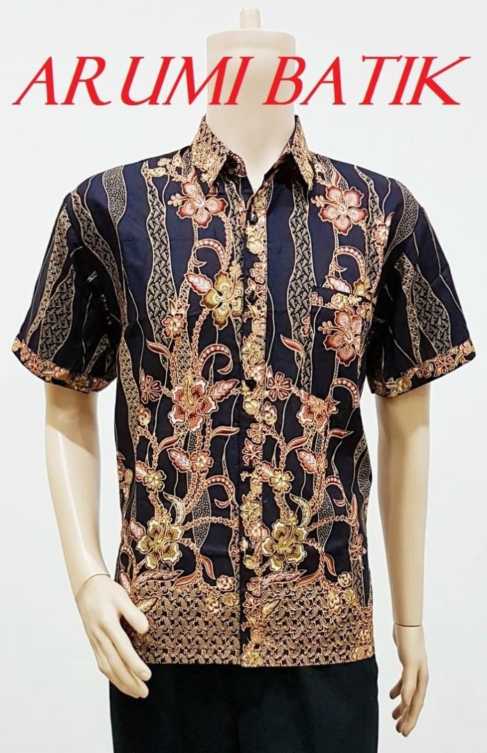 Kemeja / hem / atasan / baju / seragam pria batik 2023 hitam