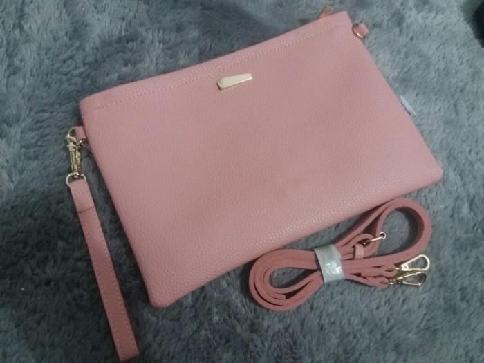 Jual Pouch miniso sling bag original japan cokelat tas dompet elegan ... 0950214436