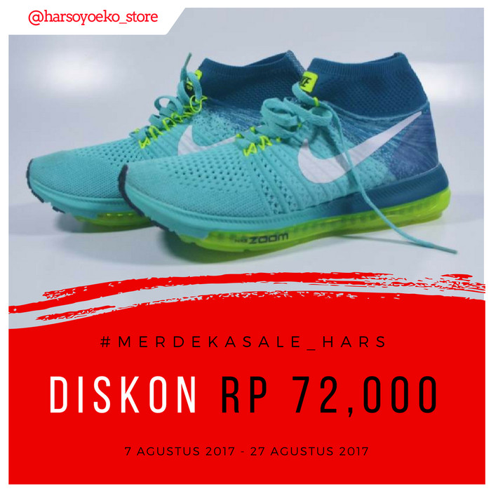Jual Sepatu Nike Zoom All Out Flyknit Clear Jade  fc3963ab88
