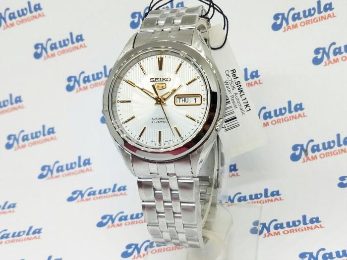... harga Seiko 5 snkl17k1 automatic gold tone on white dial | jam pria snkl17 Tokopedia.