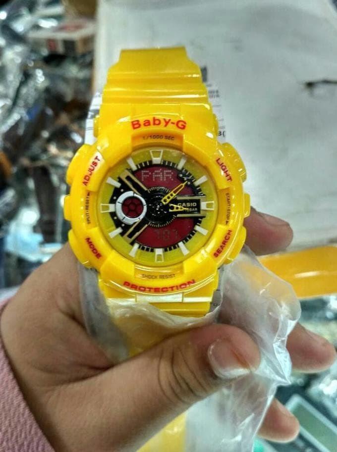 Sale Jam Tangan Wanita Casio G-Shock Baby-G Bga 110 Yellow List Red