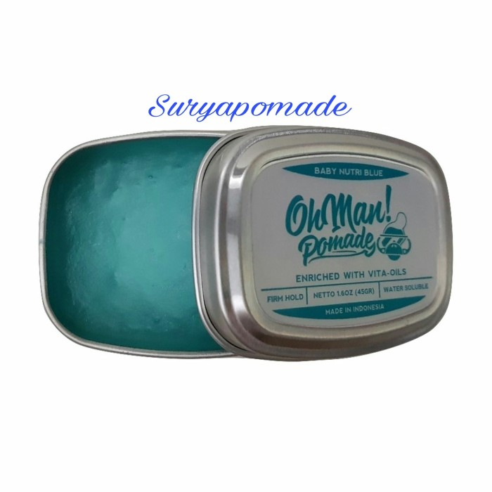 Pomade Oh man! Baby Nutri Blue Ohman Waterbased Mini Strong Hold - 45g