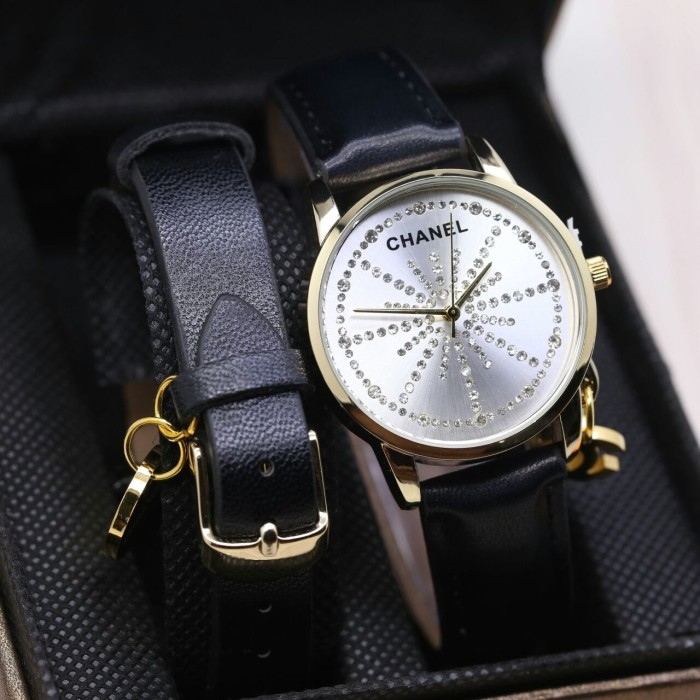 harga Ready 5 pilihan warna jam tangan fashion wanita new chanel free gelang Tokopedia.com
