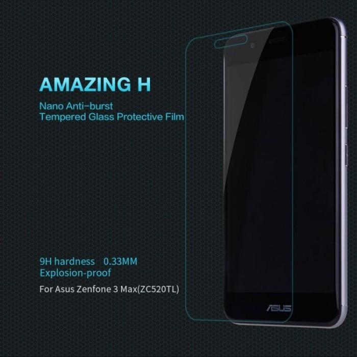 Asus Zenfone 3 MAX ZC520TL Nillkin Tempered Glass H Anti Gores Kaca TG
