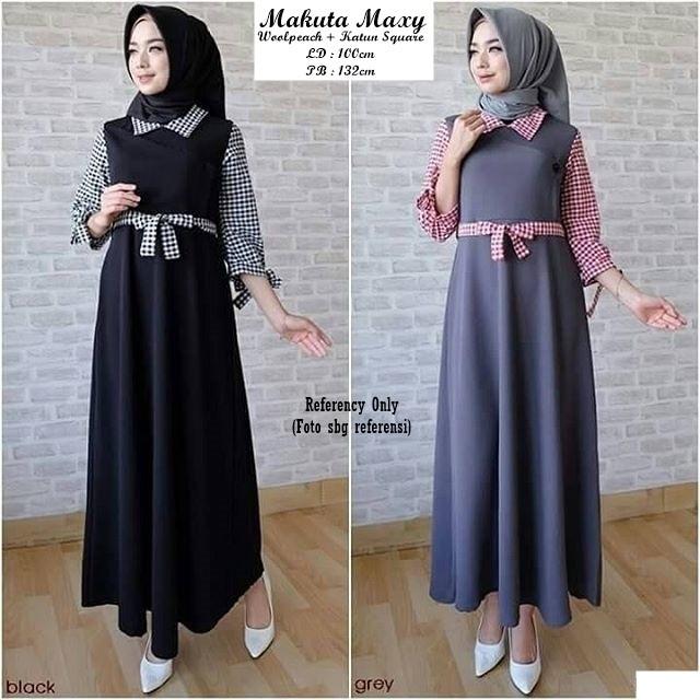 Jual Baju Wanita Cewek Muslim Dress Hijab Terbaru Murah Makuta - RR ... 8307e4d88e