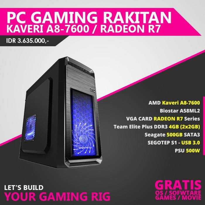 harga Pc gaming rakitan amd a807600 / radeon r7 / 4gb ram Tokopedia.com