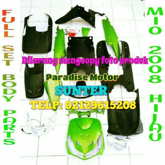 harga Full set body parts mio smile hijau / putih / merah maroon / biru Tokopedia.com