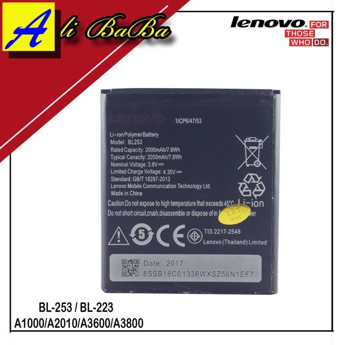 harga Baterai handphone lenovo bl-253 a1000 a2010 a3800 battery hp lenovo Tokopedia.com