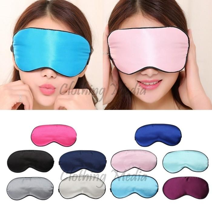 harga Silk padded blindfold penutup mata lembut halus kacamata tidur satin Tokopedia.com