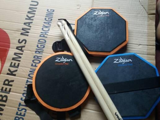 harga Pad drum 6 inchi murah bonus stick sepasang bisa di ikat Tokopedia.com