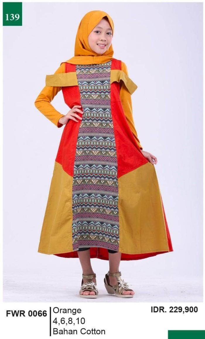 harga Pakaian muslim anak perempuan katun orange garsel fwr 0066 ori murah Tokopedia.com