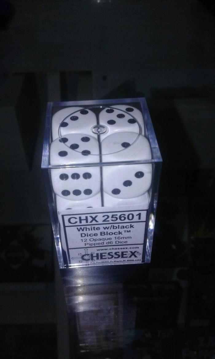 Jual Black Dice Cek Harga Di Houseofcuff Cufflinks Manset Kancing Kemeja French Cuff Bulb Chessex 25601 16mm D6 White Block