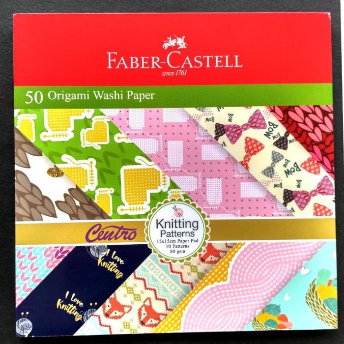 FABER CASTELL ORIGAMI WASHI PAPER KNITTING PATTERNS KERTAS ORIGAMY