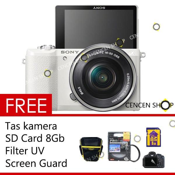 Free++| sony alpha ilce-a5100 kit 16-50mm kamera mirrorless a 5100