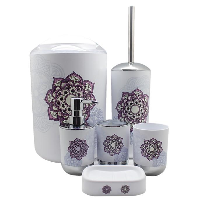 harga Imono bathroom set js15 - purple flower Tokopedia.com