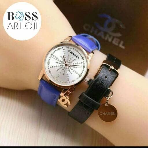 harga Jam tangan wanita / jam tangan cewek / chanel / leather / biru Tokopedia.com