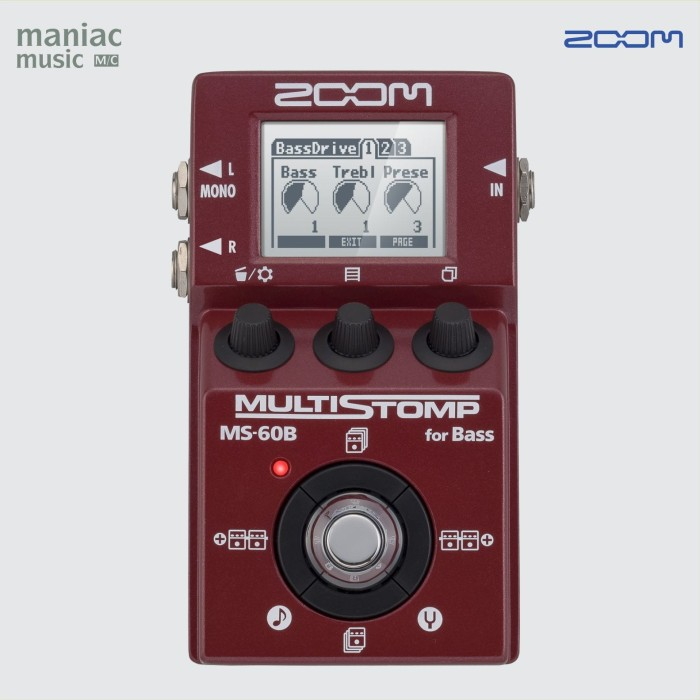 harga Zoom ms-60b (efek bass multi digital stompbox modeler usb batre) Tokopedia.com
