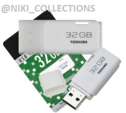 Flashdisk Toshiba 32gb Flash Disk Usb Flash Memory 32 Gb - Putih