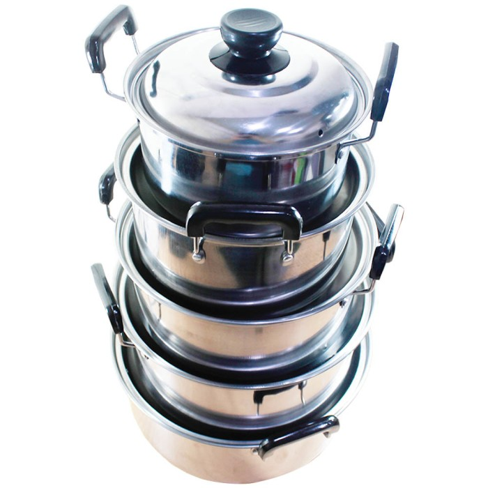 Beli Gsf American Style High Pots 5pcs Set Stainless Steel Gsf 1625 Source .