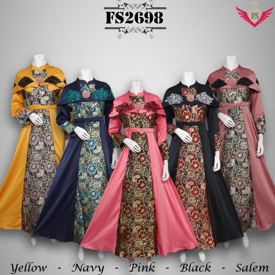 Jual Gaun Pesta Songket Model Terbaru Gamis Modern Baju Muslim Wanita Dki Jakarta Gamis Butik Tokopedia