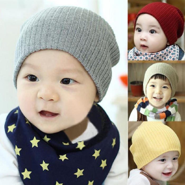 topi kupluk bayi anak dan dewasa rajut beanie baby hat wol cute keren -  Maroon 5e7faf4598