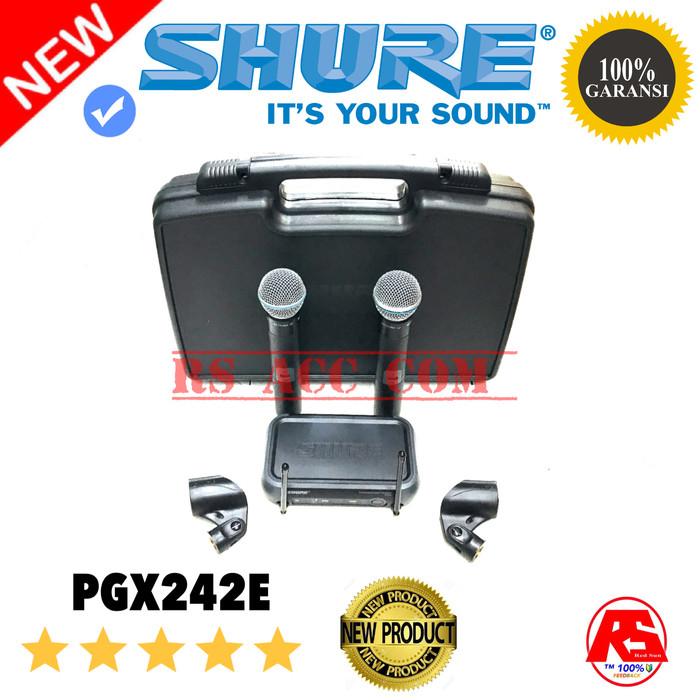 harga Mic wireless shure pgx242e professional uhf beta58 Tokopedia.com