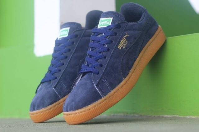 harga Sepatu casual pria puma suede original premium navy gum 39-44 import Tokopedia.com
