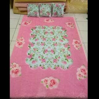 harga Karpet lantai karakter / surpet set motif shabby/ kasur bulu printing Tokopedia.com