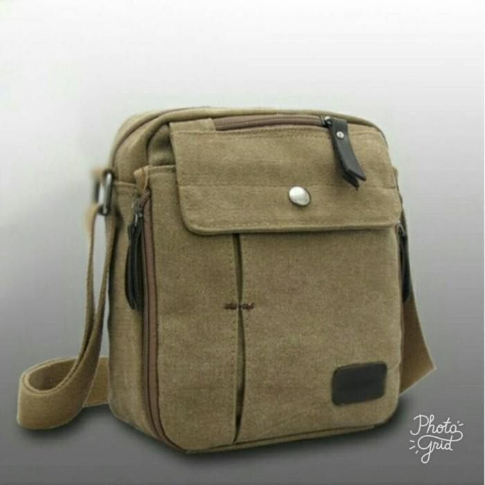 Tas Slempang Import Kanvas Militer | Slempang Messenger Shoulder Bag