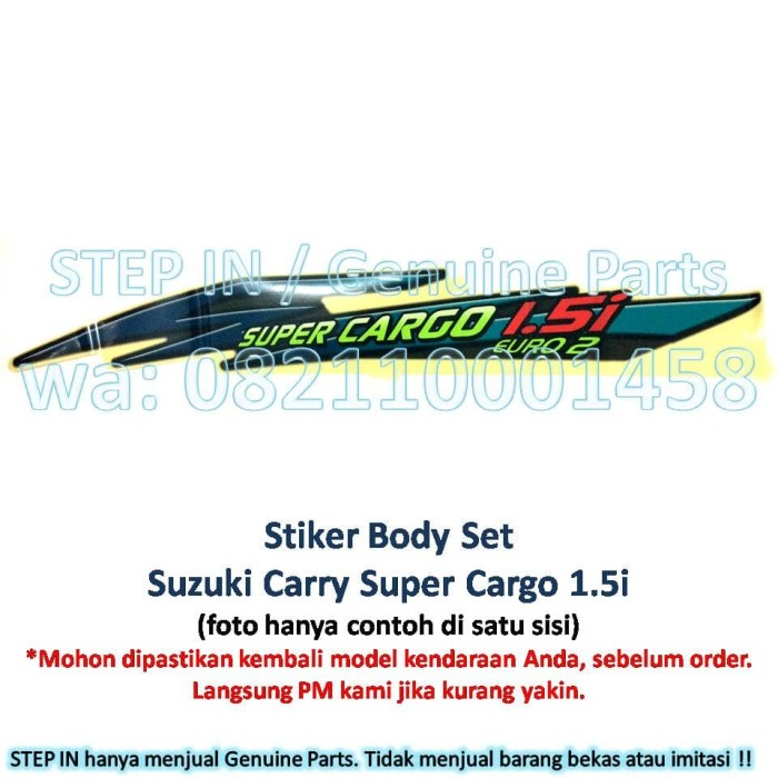 harga Stiker body set suzuki carry pick up sticker bak samping super cargo Tokopedia.com