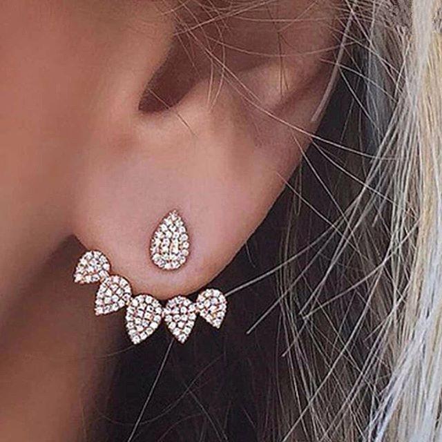 Anting bottom diamond drops   aksesoris import murah