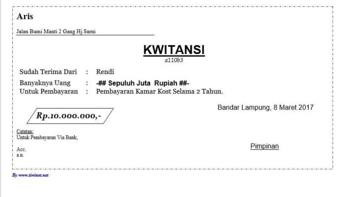 Jual Software E Kwitansi Aplikasi Pembuat Kwitansi Di Komputer Kab Lampung Utara Master Lapakku Tokopedia