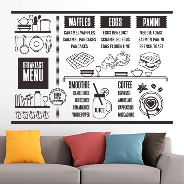 jual stiker menu dinding custom resto cafe wall sticker daftar harga